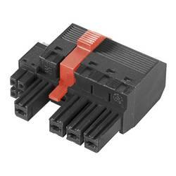 Zásuvkový konektor na kabel Weidmüller BVF 7.62HP/05/180MF4 BCF/06R SN BK BX 1081760000, 54.60 mm, pólů 5, rozteč 7.62 mm, 25 ks