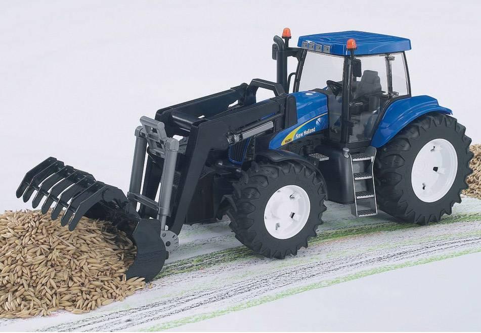 New holland t strohballen laden frontlader landtechnik
