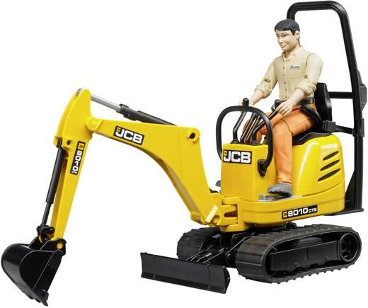 Bruder JCB Mikrobagger 8010 CTS und Bauarbeiter