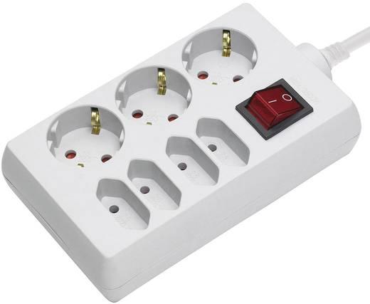 292013 Steckdosenleiste mit Schalter 7fach Weiß Schutzkontakt