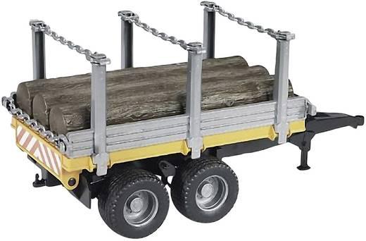 bruder Bruder 02213 Holztransportanhänger mit 3 Baumstämmen