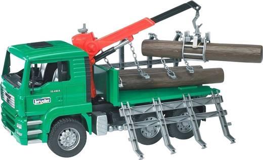 Bruder MAN Holztransport-LKW mit Ladekran und 3 Baumstämmen
