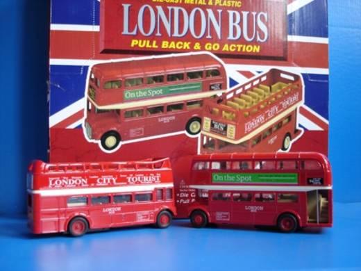 London Doppeldeckerbus Rückzug