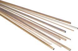 Mosazný profil trubkový čtyřhranný 500 x 6 x 6 mm