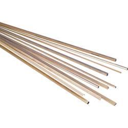 Štvorhranný trubkový profil Reely 297631, (d x š x v) 500 x 2 x 2 mm, vnútorný Ø: 1.4 mm, mosaz