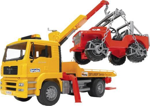 Bruder MAN TGA Abschlepp-LKW mit Geländewagen 2750