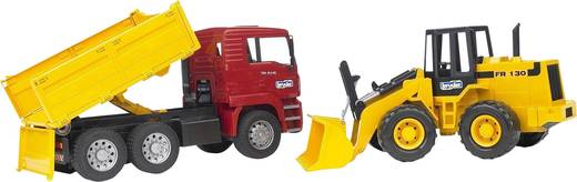 Bruder MAN TGA Kipplastwagen mit Gelenkradlader FR130