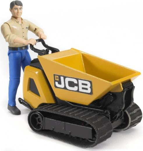 Bruder JCB Dumpster HTD-5 mit Bauarbeiter