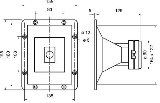 Hochton-Horn mit Treiber Visaton HTH 8.7 200 W 8 Ω