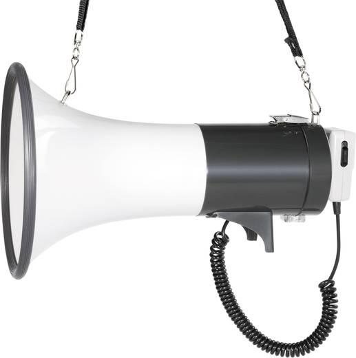 SpeaKa Professional JE-583 Megaphon mit Handmikrofon, mit Haltegurt, integrierte Sounds