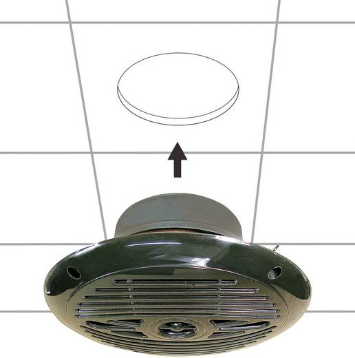 Marine-Lautsprecher SpeaKa Professional 110 W 4 Ω Schwarz 1 Paar