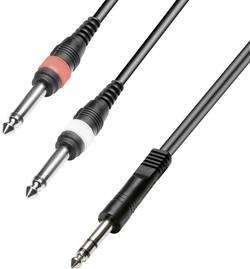 Kabel 1x stereo jack (M) 6,3 mm / 2x mono jack (M) 6,3 mm, 2,5 m