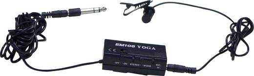 Ansteck Sprach-Mikrofon Renkforce EM106 Übertragungsart:Kabelgebunden