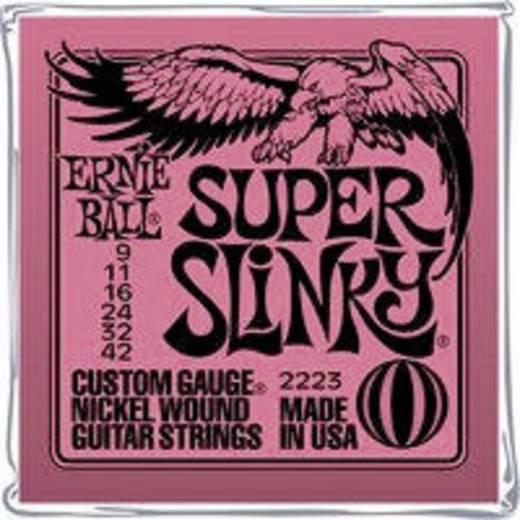 E-Gitarrensaiten Ernie Ball EB2223 Super Slinky 009-042