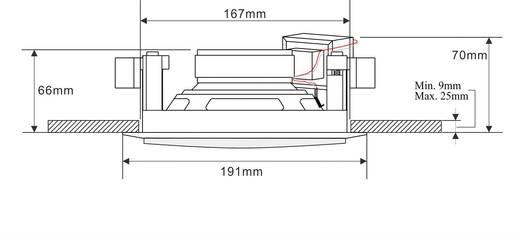 ELA-Einbaulautsprecher Renkforce 130 MM 45 W 100 V Weiß 1 St.