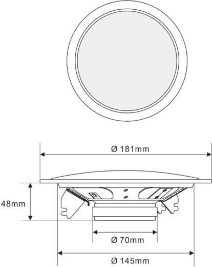 ELA-Einbaulautsprecher SPE-178WT 40 W 100 V Weiß 1 St.