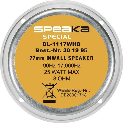 Einbaulautsprecher SpeaKa DL-1117 25 W 8 Ω Weiß 1 St.