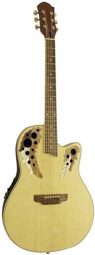 E-Westerngitarre MSA Musikinstrumente RB-200 4/4 Natur
