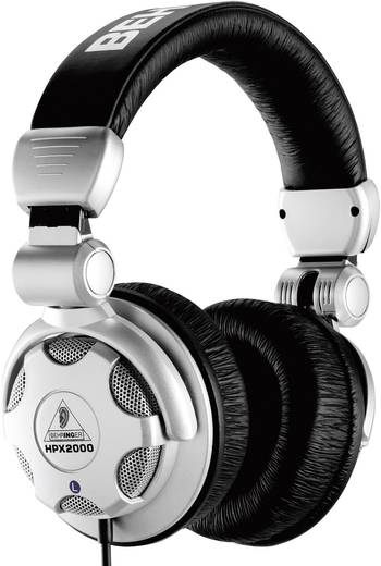 Behringer HPX2000 DJ Kopfhörer Over Ear Faltbar Silber, Schwarz
