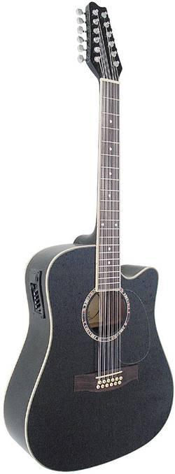 Image of E-Westerngitarre MSA Musikinstrumente CW 1200 4/4 Schwarz