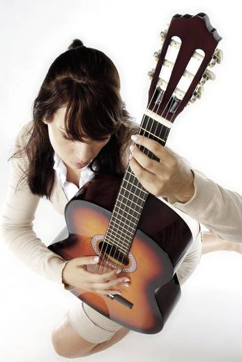 Konzertgitarren-Set MSA Musikinstrumente C22 4/4 Natur inkl. Tasche