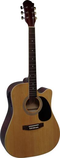 E-Westerngitarre MSA Musikinstrumente CW 195 4/4 Natur