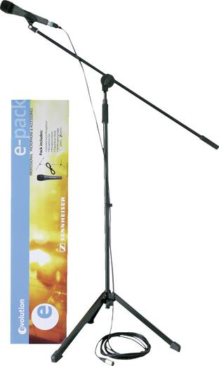 Hand Mikrofon-Set Sennheiser E 835 S Übertragungsart:Kabelgebunden inkl. Kabel, inkl. Klammer, inkl. Stativ