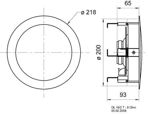Einbaulautsprecher Visaton DL 18/2 70 W 8 Ω Weiß 1 St.
