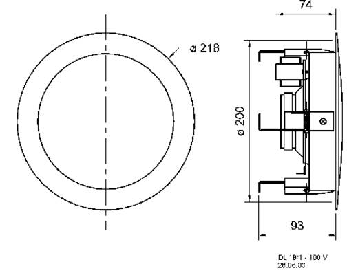 ELA-Einbaulautsprecher Visaton DL 18/2 70 W 100 V Weiß 1 St.