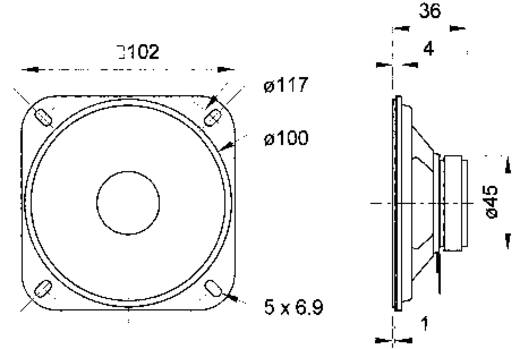 4 Zoll 10.16 cm Breitband Lautsprecher-Chassis Visaton R 10 S 20 W 4 Ω