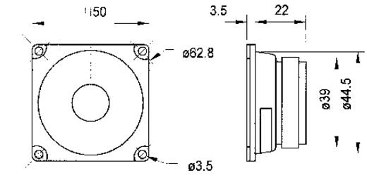 2 Zoll Breitband Lautsprecher-Chassis Visaton FRWS 5 4 W 8 Ω