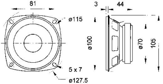 4 Zoll Breitband Lautsprecher-Chassis Visaton FR 10 20 W 4 Ω
