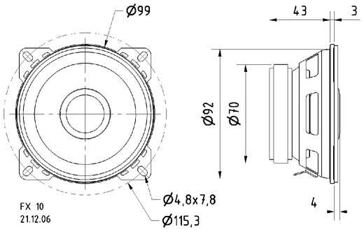 4 Zoll 10.16 cm Breitband Lautsprecher-Chassis Visaton FX 10 40 W 4 Ω