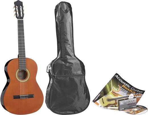 Konzertgitarren-Set inkl. Lernbuch und CD 4/4 Größe Natur