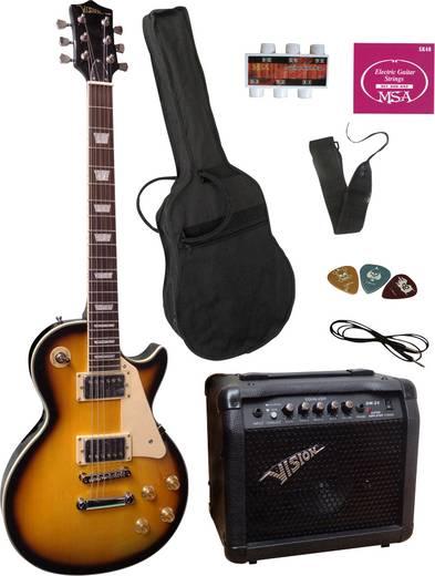 E-Gitarren-Set MSA Musikinstrumente LS-1 Sunburst inkl. Tasche, inkl. Verstärker