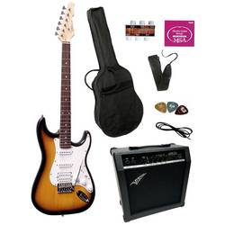 Image of MSA Musikinstrumente ST-6 E-Gitarren-Set Sunburst inkl. Tasche, inkl. Verstärker