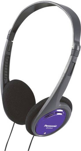 Kopfhörer Panasonic RP-HT010 On Ear Leichtbügel Schwarz, Blau