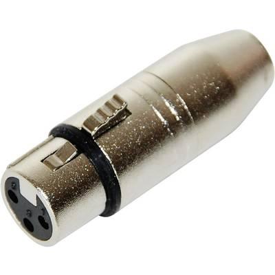 XLR Adapter [1x XLR-Buchse - 1x Mini-XLR-Stecker] Silber Paccs Preisvergleich