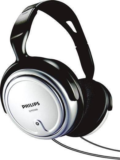 TV Kopfhörer Philips SHP2500 Over Ear Lautstärkeregelung Schwarz, Silber