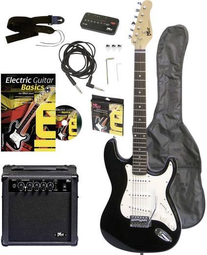 E-Gitarren-Set Voggenreiter EG100 Schwarz inkl. Tasche, inkl. Verstärker