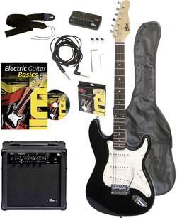 Sada elektrickej gitary Voggenreiter EG100, čierna, vr. púzdra, vr. zosilňovača