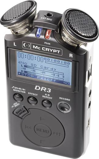 Mobiler Audio-Recorder Mc Crypt DR3 Schwarz