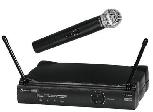 Funkmikrofon-Set VHF-250 Hz