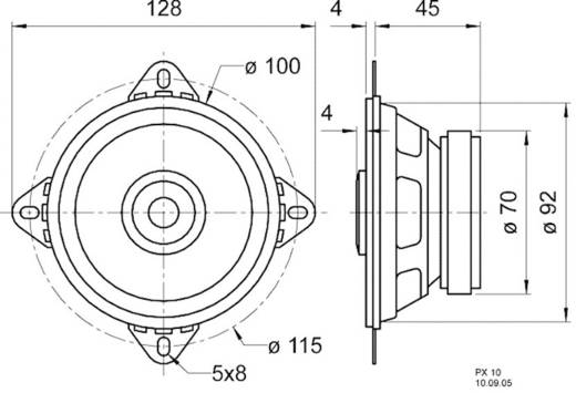 Visaton PX 10 4 Zoll 10.16 cm Breitband Lautsprecher-Chassis 20 W 4 Ω
