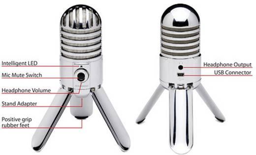 USB-Studiomikrofon Samson Meteor Mic Silver Kabelgebunden inkl. Kabel