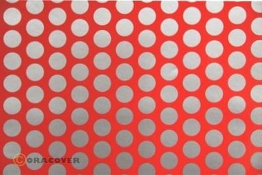 Plotterfolie Oracover Easyplot Fun 1 91-021-091-010 (L x B) 10 m x 38 cm Rot-Silber (fluoreszierend)