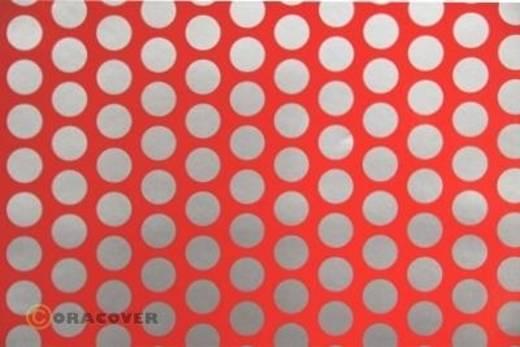 Plotterfolie Oracover Easyplot Fun 1 93-021-091-010 (L x B) 10 m x 30 cm Rot-Silber (fluoreszierend)