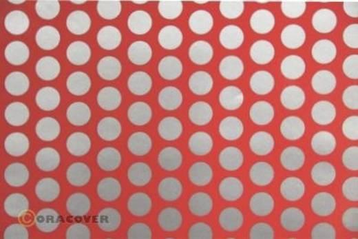 Bügelfolie Oracover Fun 1 41-021-091-002 (L x B) 2 m x 60 cm Rot-Silber (fluoreszierend)