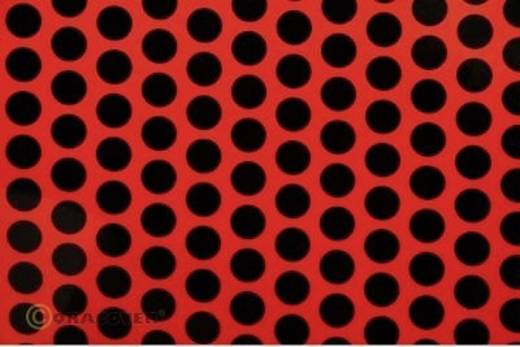 Bügelfolie Oracover Fun 1 41-021-071-002 (L x B) 2 m x 60 cm Rot-Schwarz (fluoreszierend)