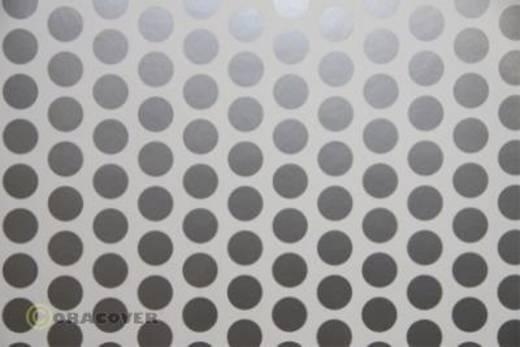 Bügelfolie Oracover Fun 1 41-010-091-010 (L x B) 10 m x 60 cm Weiß-Silber